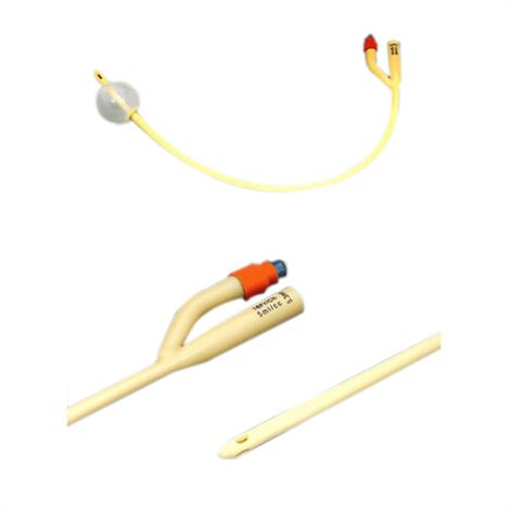 """Amsino AMSure Two-Way Silicone-Coated Foley Catheter With 30cc Balloon Capacity,12Fr,16"""" L,10/case,AS42012"""