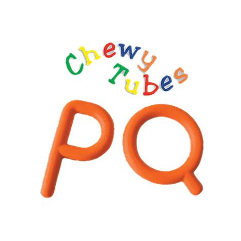 Chewy Tubes Oral Motor Exercisers,Ps and Qs,Each,557253