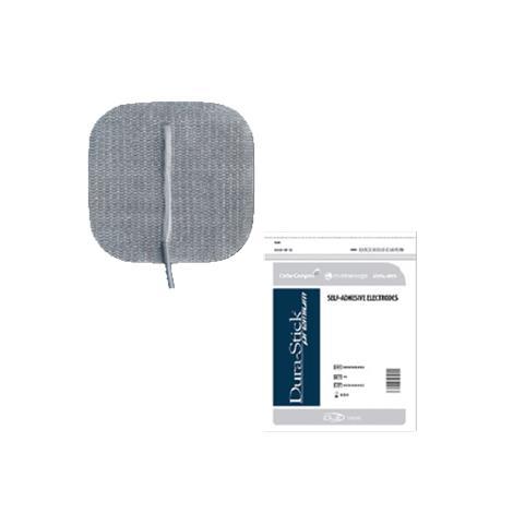 "Chattanooga Dura-Stick Premium Electrodes,2"",Square Blue Gel,40/Case,42176"