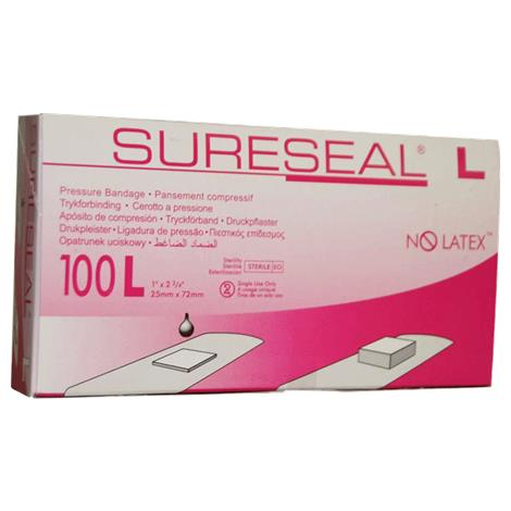 Facet SureSeal Pressure Adhesive Bandage,1-1/4 x 2-2/3,Extra-Large,100/Pack,85200