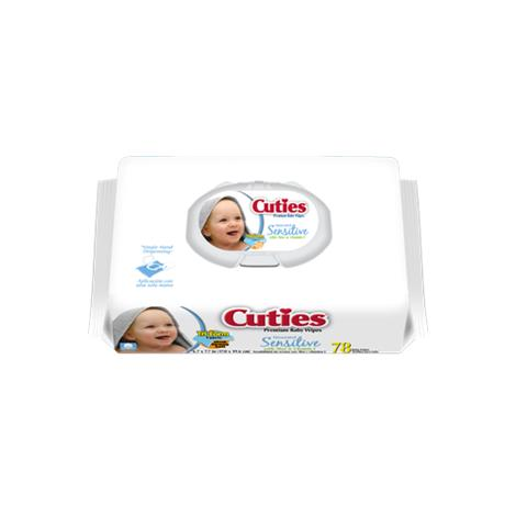 Cuties Wipes Quilted Soft Pack,Sensitive,1 Tub,Each,CR-16413