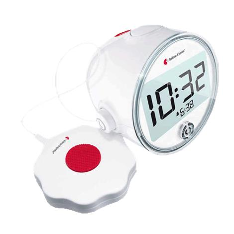 "Bellman Visit Vibrating Alarm Clock,4.3""H x 4.7""W x 3.6""D (108mm x 121mm x 92mm),Each,BE1580"