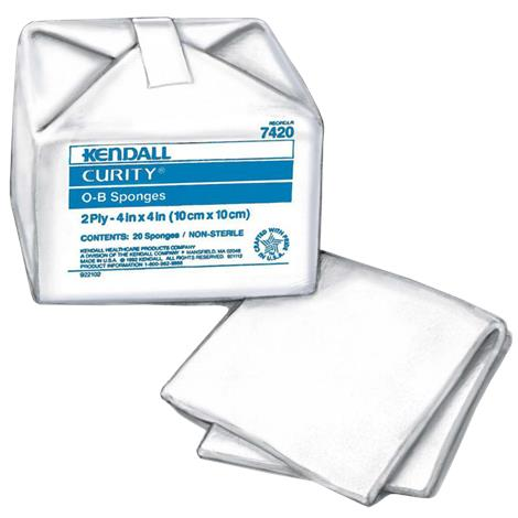 "Covidien Curity 100% Cotton O-B Sponges,4"" x 4"",2ply,100/Pack,7053"