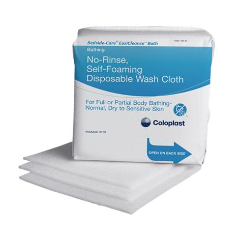 "Coloplast Bedside-Care EasiCleanse No-Rinse Self-foaming Disposable Washcloth,7.9""x 7.9"",30/Pack,30Pk/Case,7055"