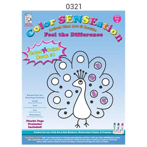 Playability DO-A-DOT Markers With Color N Paint Book,Book 1,Each,321
