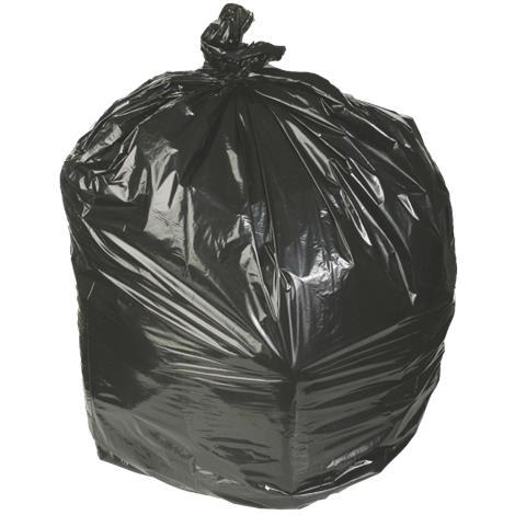 """Medline Low Density Black Trash Liners,24""""W x 32""""L,15 Gallon,1 Mil,250/Pack,NONTGG32"""