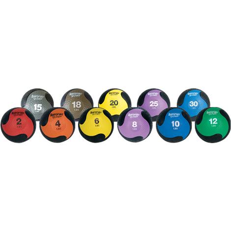 "Aeromat Deluxe Medicine Ball,10lb,9.0"" Diameter,Black and Blue,Each,35968"