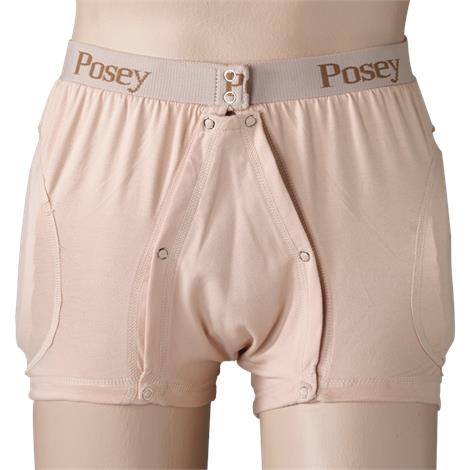 Posey Hipsters Incontinent Brief with High Durability Poron Removable Pad,Each,6017HXXL