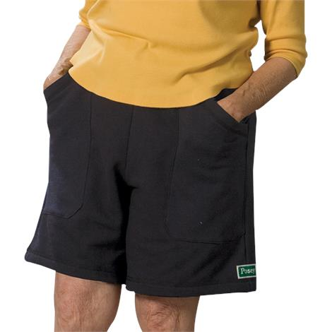 Posey Hipsters Shorts with High Durability Poron Removable Pad,Small,Navy Blue,Each,6007NS
