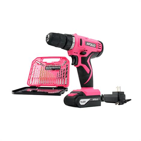 Apollo Li-ion Cordless Drill with 30 Pc. Accessory Set,Drill with 30 Pc Accessory Set,Each,DT-4937P