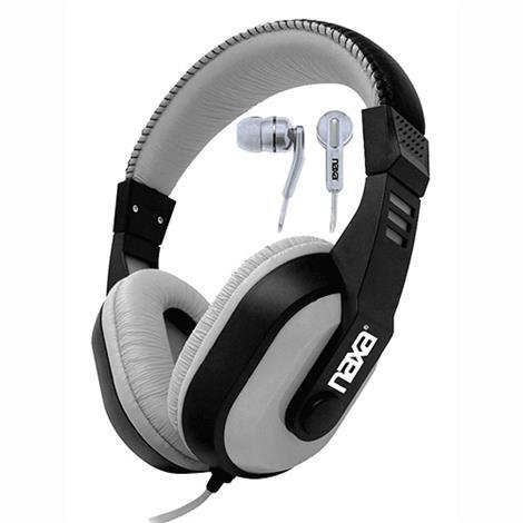 Image of Combo Gray DJZ Ultra Plus Headphone/Earbud,Ultra Plus Headphone,Each,NE-934GY