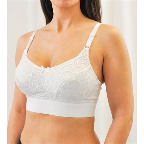 Nearly Me 5628 Anna Soft Lace Full Coverage Mastectomy Bra,0,Each,5628