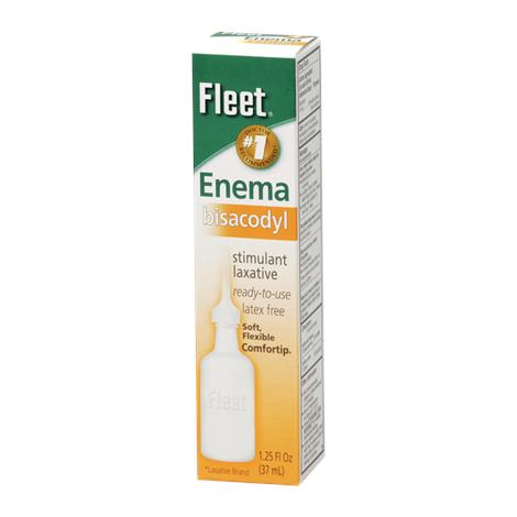 Fleet Bisacodyl Enema,1.25fl oz (37ml),24/Case,750