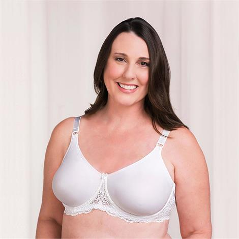 Trulife 4008 Audrey Seamless Lace Accent Underwire Mastectomy Bra,0,Each,4008