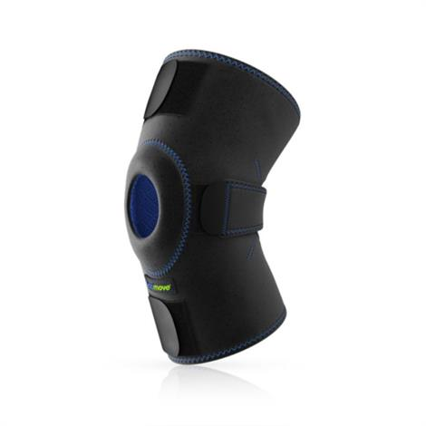 Actimove Sports Adjustable Knee Support With Open Patella,Universal,Black,Each,7559310