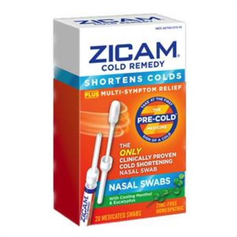 Emerson Zicam Cold Remedy Nasal Swab,20 count,Each,201222