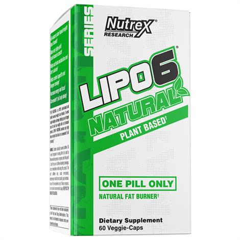 Nutrex LIPO-6 NATURAL Plant Based Dietary ,60 Capsules,Each,881200