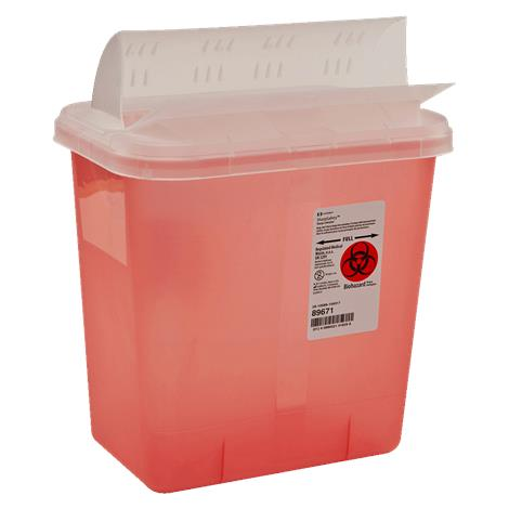 Covidien Kendall Horizontal Drop Opening Lid,2Gallon,20/Case,89671