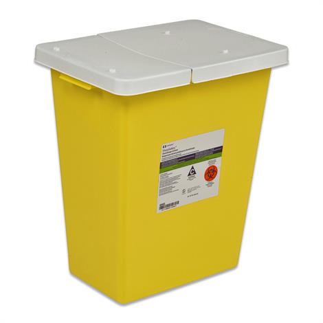 Covidien Kendall SharpSafety Chemosafety Containers with Hinged Lid,18 Gallon,5/Case,8989