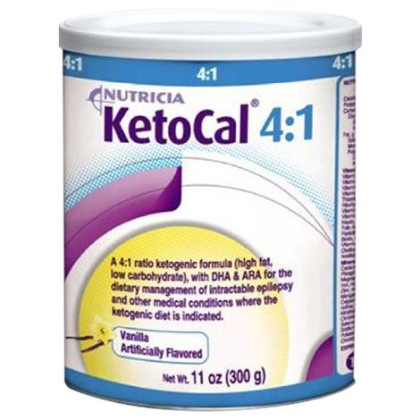 Nutricia KetoCal 4:1 Nutritionally Complete Powdered Medical Food,Vanilla,300gm,Can,6/Case,101777 - from $309.99