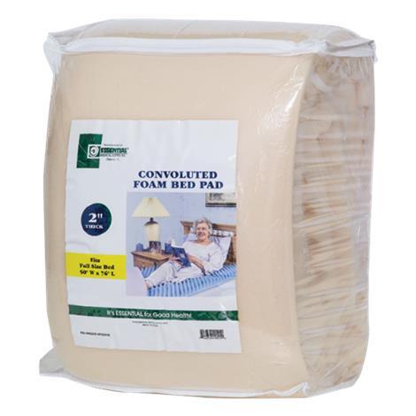 "Essential Medical Convoluted Foam Bed Pad,Full,76""L x 50""W x 2""H,Each,F9001E"