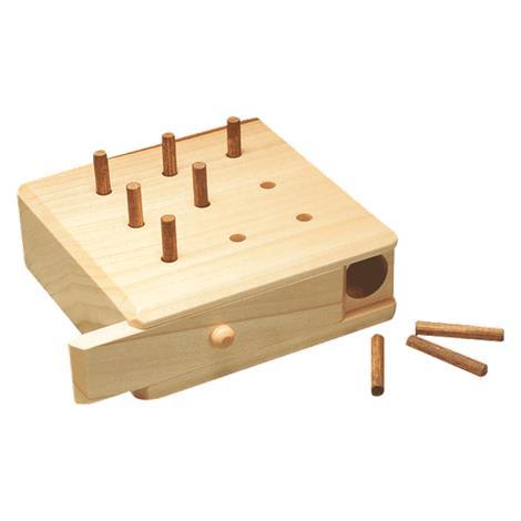 9 Hole Hardwood Pegboard Game,9 Hole Pegboard,Each,NC34547