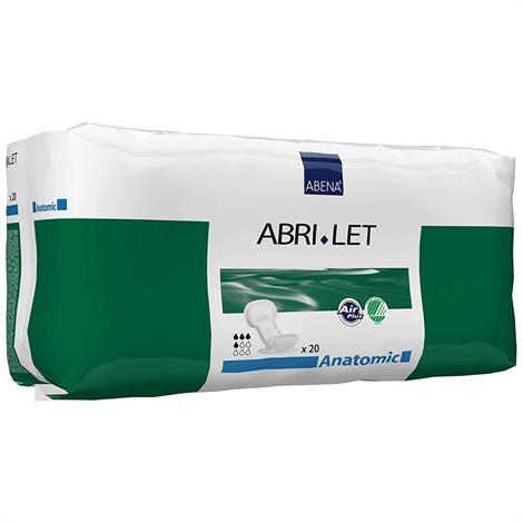 Abena Abri-Let Anatomic Booster Pad,20cm x 44cm,Absorbency level: 500 ml,20/Pack,300215