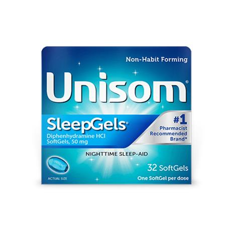 Unisom SleepGels Nighttime Sleep Aid,Unisom Sleepgels,32 Softgels,Each,A04116700133