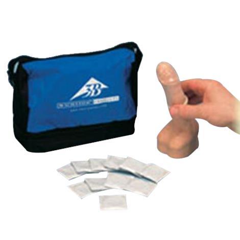 """A3BS white skin tone Condom training model,3.0"""" x 3.0"""" x 7.7"""",Each,L42 ABSL42"""