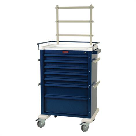 Harloff Aluminum Super Seven Drawer Cart with Key Lock,Beige,Each,AL810K7-ANS