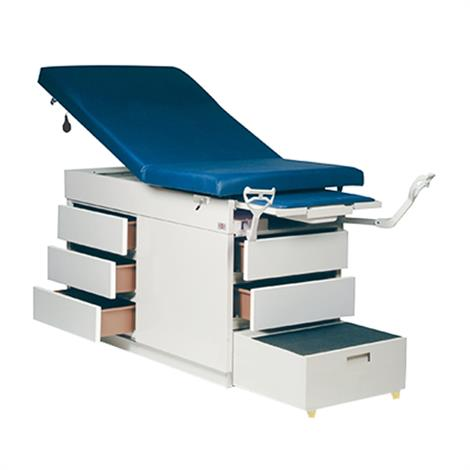 Hausmann Gas Spring Back Exam Table,Model,Right Side Drawers,Each,4412