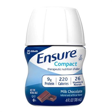 Abbott Ensure Compact Therapeutic Milk Chocolate Shake,4fl oz (118mL) Bottle,24/Pack,64362