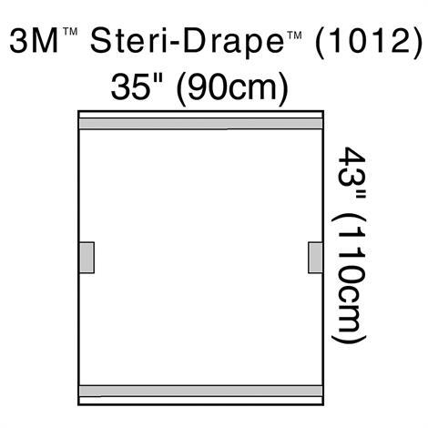3M Steri-Drape Fluoroscope Drape,3M Steri-Drape,40/Pack,1012