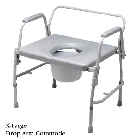 "Bariatric Extra Large Drop Arm Commode,32"" x 31"" x 21"" (81 x 79 x 53cm),Each,NC25002"