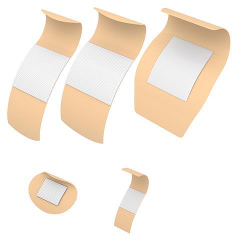 """Dynarex Adhesive Bandage,1"""" x 3"""",Adhesive Bandages,100/Pack,3602"""