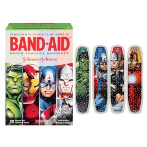 Johnson & Johnson Band-Aid Decorated Avengers Assemble Adhesive Bandage,Assorted,20/Pack,116282