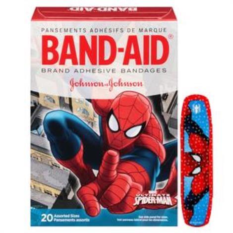 Johnson & Johnson Band-Aid Decorated Spiderman Adhesive Bandage,Assorted,20/Pack,116283