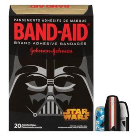 Johnson & Johnson Band-Aid Decorated Star Wars Adhesive Bandage,Assorted,20/Pack,116286
