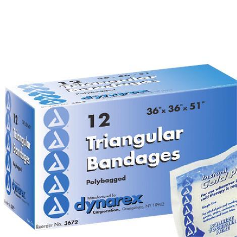 Dynarex Triangular Bandage,36 x 36 x 51,12/Pack,3672