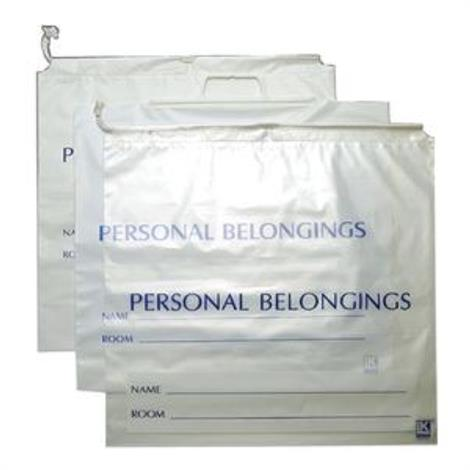 Elkay Personal Belonging Bag with Cord String Closure,Opaque White,250/Pack,PB181853DSW