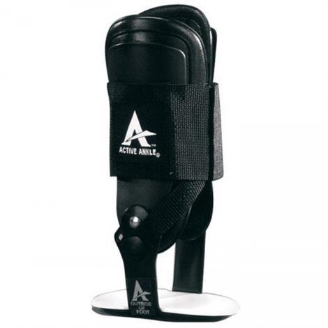 Active Ankle T2 Black Rigid Ankle Brace,Black,Medium Size,Each,277417