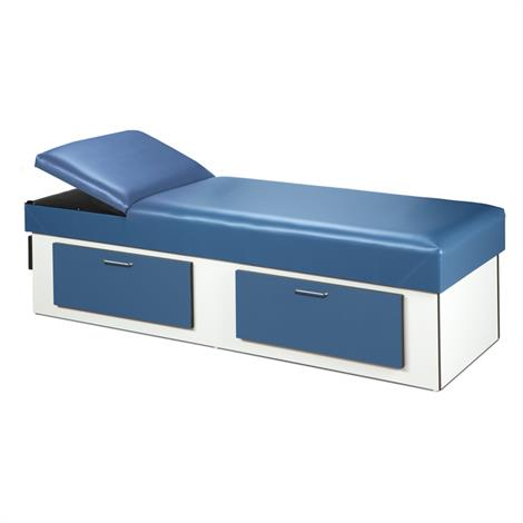 Clinton Upholstered Apron Recovery Couch with Double Drawer Storage,0,Each,3713