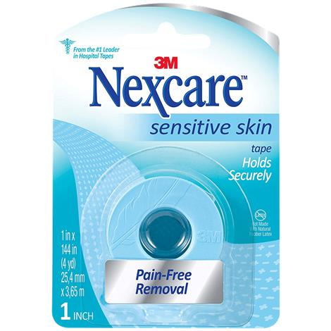 3M Nexcare Sensitive Skin Tape,1 x 4yd,Blue,Each,SLT-1
