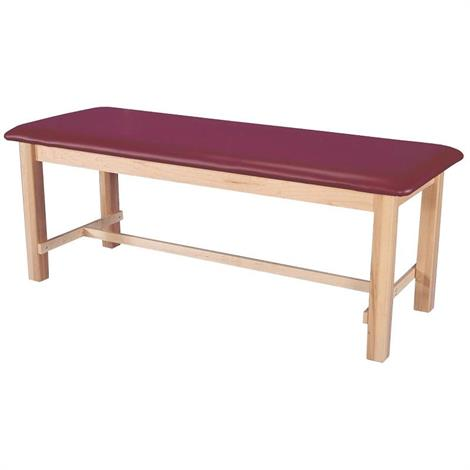 "Armedica Maple Hardwood Treatment Table,Plain Shelf,20"" x 66"",Merlot,Each,AM-604"