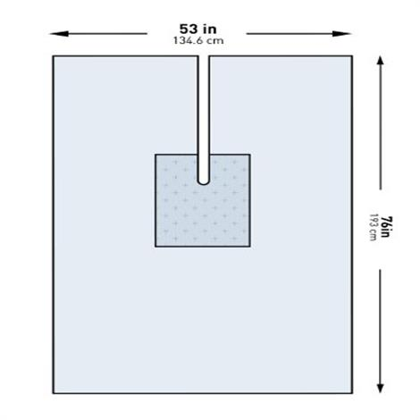 "McKesson U-Drape,53""W x 76""L,Split 2.5"" x 30"",26/Case,183-I80-09135G-S"