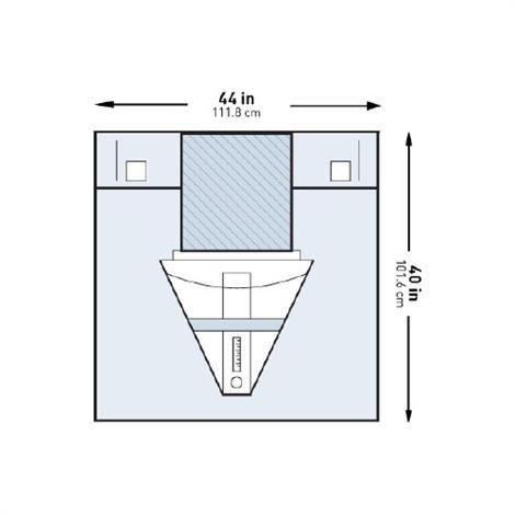 McKesson Under Buttocks Gynecology Drape,32 W X 45 L Inch,25/Case,183-I80-14113-S