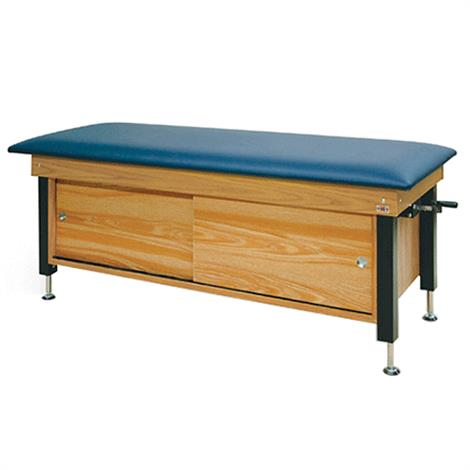 Hausmann Crank Hydraulic Cabinet-Style Changing Treatment Table,American Beauty,Each,4715-726