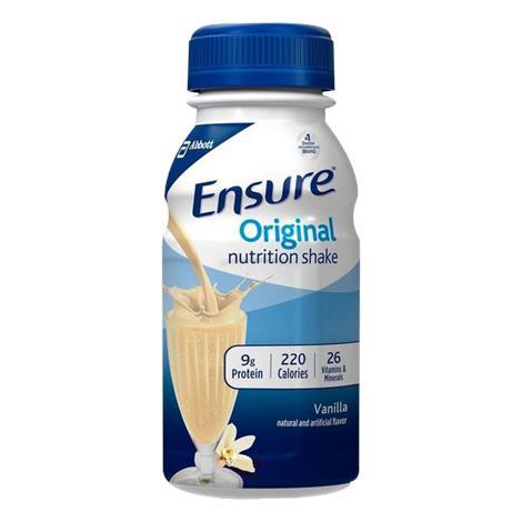 Abbott Ensure Original Ready-to-Drink Shake,Butter Pecan,8fl oz (237ml),Bottle,24/Case,57240
