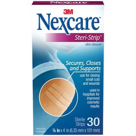 """3M Nexcare Steri-Strip Skin Closure,1/4"""" x 4"""" (6.35mm x 101mm),30/Pack,H1546"""