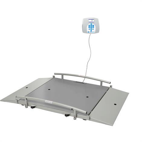 """Health O Meter Digital Wheelchair Dual Ramp Scale,31.5""""W x 31.5""""D x 2""""H (800mm x 800mm x 51mm),Each,2650KL"""